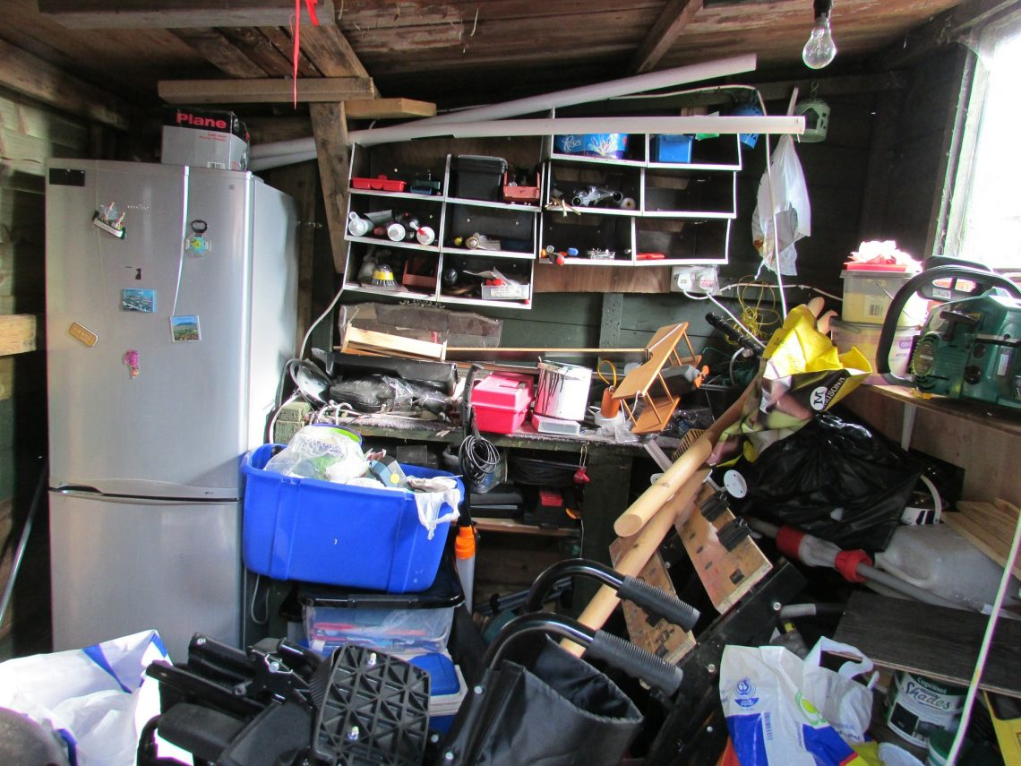 piles of clutter